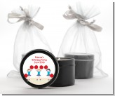 Cheerleader - Birthday Party Black Candle Tin Favors