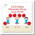 Cheerleader - Personalized Birthday Party Card Stock Favor Tags thumbnail