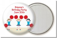 Cheerleader - Personalized Birthday Party Pocket Mirror Favors