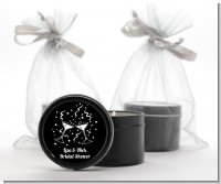 Cheers - Bridal Shower Black Candle Tin Favors