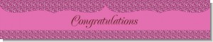 Cheetah Print Pink - Personalized Birthday Party Banners