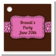 Cheetah Print Pink - Personalized Birthday Party Card Stock Favor Tags thumbnail