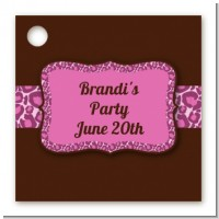 Cheetah Print Pink - Personalized Birthday Party Card Stock Favor Tags