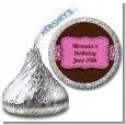 Cheetah Print Pink - Hershey Kiss Birthday Party Sticker Labels thumbnail