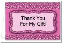 Cheetah Print Pink - Birthday Party Thank You Cards