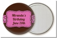 Cheetah Print Pink - Personalized Birthday Party Pocket Mirror Favors