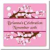 Cherry Blossom - Personalized Baby Shower Card Stock Favor Tags