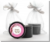 Cherry Blossom - Birthday Party Black Candle Tin Favors