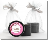 Cherry Blossom - Baby Shower Black Candle Tin Favors