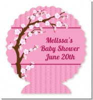 Cherry Blossom - Personalized Baby Shower Centerpiece Stand