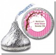 Cherry Blossom - Hershey Kiss Baby Shower Sticker Labels thumbnail