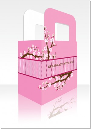 Cherry Blossom - Personalized Bridal Shower Favor Boxes