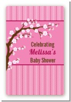 Cherry Blossom - Custom Large Rectangle Baby Shower Sticker/Labels