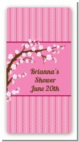 Cherry Blossom - Custom Rectangle Baby Shower Sticker/Labels