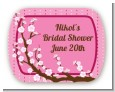 Cherry Blossom - Personalized Bridal Shower Rounded Corner Stickers thumbnail
