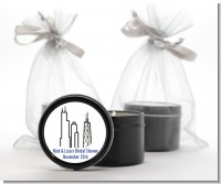 Chicago - Bridal Shower Black Candle Tin Favors