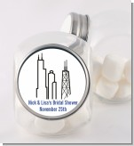 Chicago - Personalized Bridal Shower Candy Jar