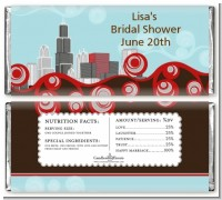 Chicago Skyline - Personalized Bridal Shower Candy Bar Wrappers