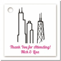 Chicago Skyline - Personalized Bridal Shower Card Stock Favor Tags