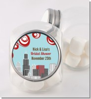 Chicago Skyline - Personalized Bridal Shower Candy Jar
