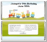 Choo Choo Train - Personalized Birthday Party Candy Bar Wrappers