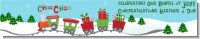 Choo Choo Train Christmas Wonderland - Personalized Baby Shower Banners