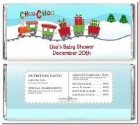 Choo Choo Train Christmas Wonderland - Personalized Baby Shower Candy Bar Wrappers