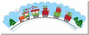 Choo Choo Train Christmas Wonderland - Baby Shower Cupcake Wrappers
