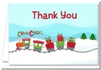 Choo Choo Train Christmas Wonderland - Baby Shower Thank You Cards