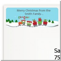 Choo Choo Train Christmas Wonderland - Baby Shower Return Address Labels