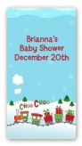 Choo Choo Train Christmas Wonderland - Custom Rectangle Baby Shower Sticker/Labels