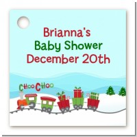 Choo Choo Train Christmas Wonderland - Personalized Baby Shower Card Stock Favor Tags