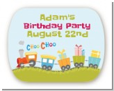 Choo Choo Train - Personalized Birthday Party Rounded Corner Stickers