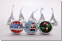 Custom Christmas Hershey Kiss Stickers | Candles & Favors