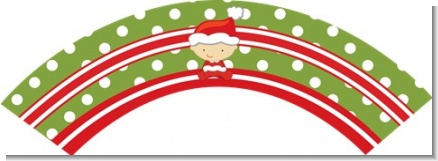 Christmas Baby Caucasian - Baby Shower Cupcake Wrappers