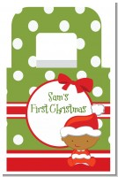 Christmas Baby African American - Personalized Baby Shower Favor Boxes