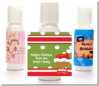 Christmas Baby African American - Personalized Christmas Lotion Favors