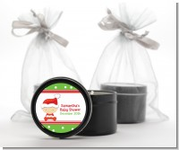Christmas Baby Caucasian - Baby Shower Black Candle Tin Favors