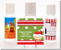 Christmas Baby Caucasian - Personalized Christmas Hand Sanitizers Favors