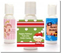 Christmas Baby Caucasian - Personalized Christmas Lotion Favors