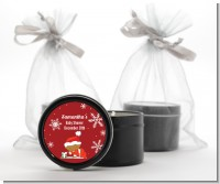 Christmas Baby Snowflakes African American - Baby Shower Black Candle Tin Favors