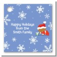 Christmas Baby Snowflakes African American - Personalized Baby Shower Card Stock Favor Tags thumbnail