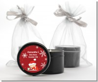 Christmas Baby Snowflakes - Baby Shower Black Candle Tin Favors