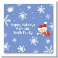 Christmas Baby Snowflakes - Personalized Baby Shower Card Stock Favor Tags thumbnail