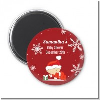Christmas Baby Snowflakes - Personalized Baby Shower Magnet Favors