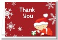 Christmas Baby Snowflakes - Baby Shower Thank You Cards thumbnail