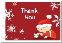 Christmas Baby Snowflakes - Baby Shower Thank You Cards