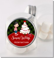 Christmas Boy - Personalized Christmas Candy Jar