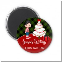 Christmas Boy - Personalized Christmas Magnet Favors