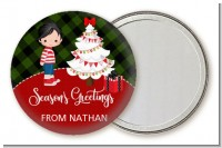 Christmas Boy - Personalized Christmas Pocket Mirror Favors